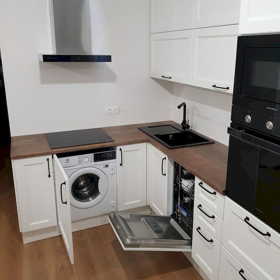 Белый кухонный гарнитур-Кухня МДФ в эмали «Модель 674»-фото3