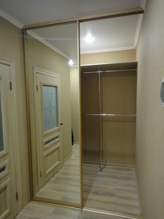 Белые шкафы-купе-Шкаф-купе с зеркалом «Модель 176»-фото3